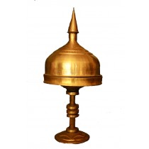 Handicraft Brass Metal Sarai (Tray with stand and cover) - 16 Inch