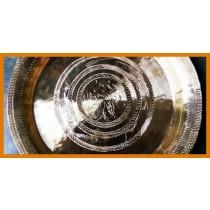 Handicraft Bell Metal Plate/Dish (Kahi) Classic Design- 1kg